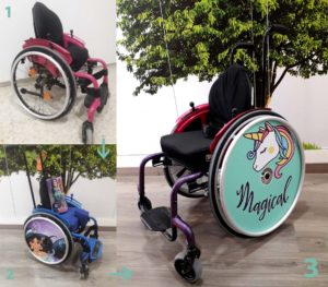 Silla de ruedas infantil adaptada